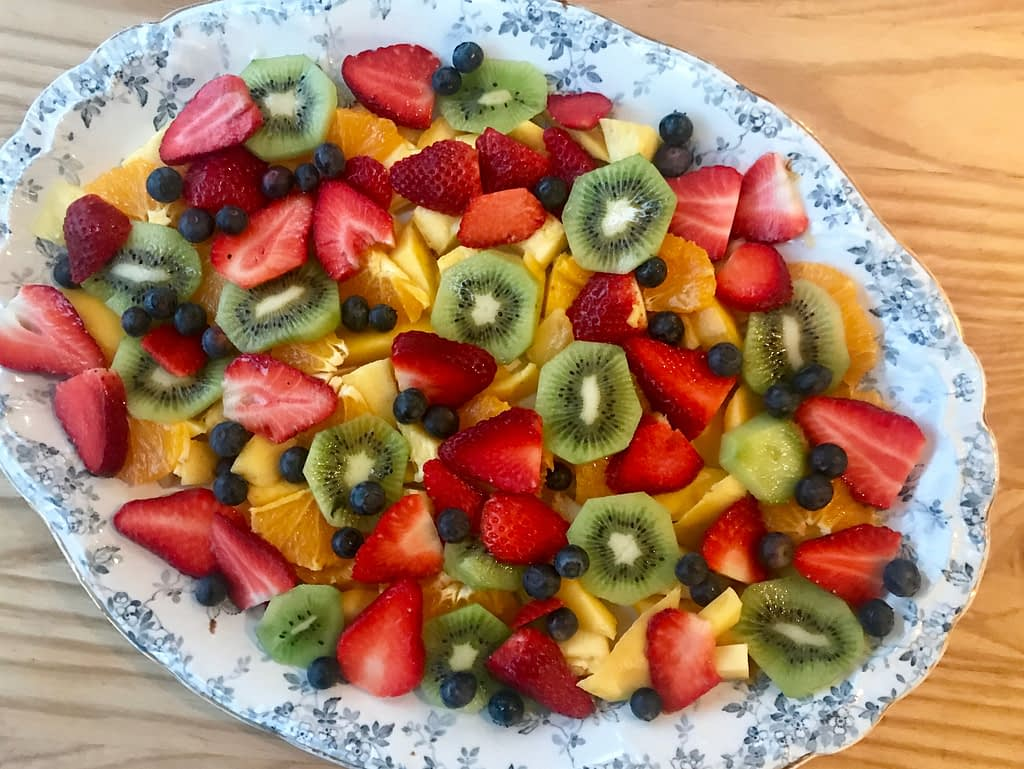Strawberry, blueberry,