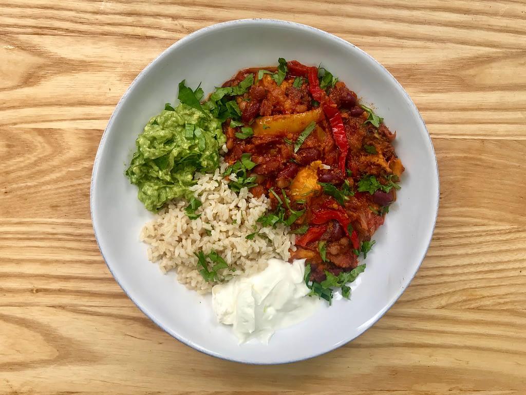 Jamie Oliver's vegetarian chilli