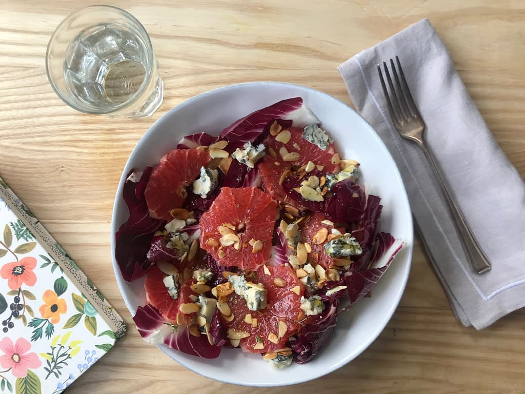 Radicchio, orange and Gorgonzola salad