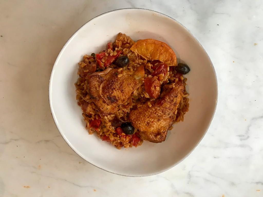 Delia Smith's chicken Basque