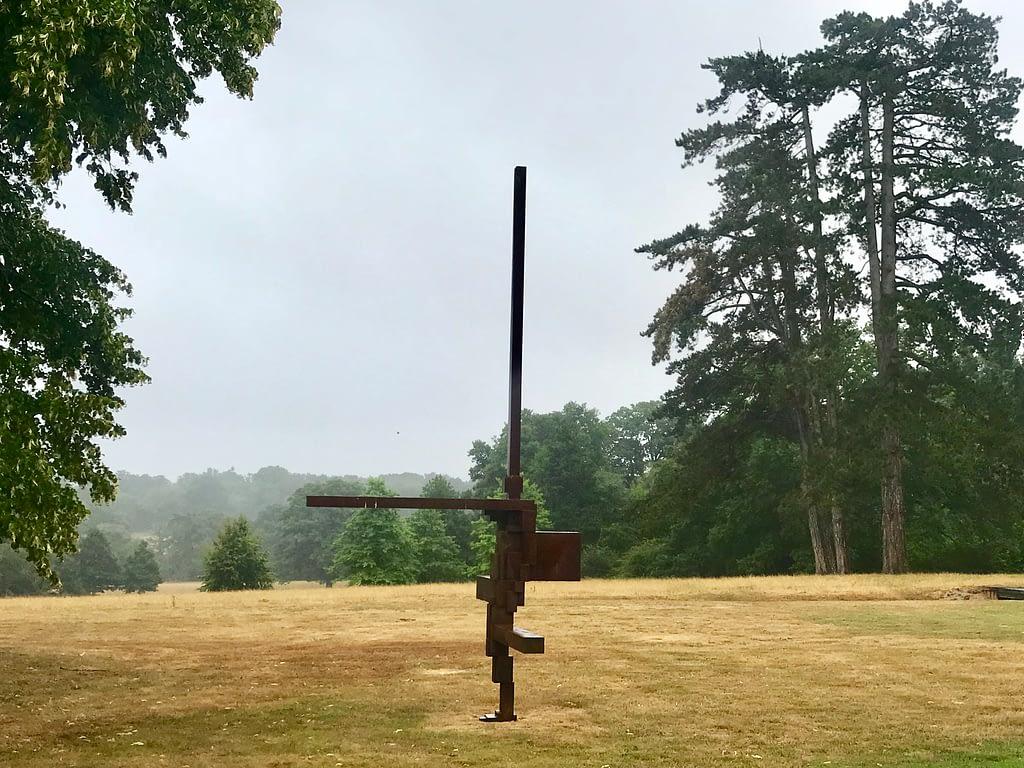 Anthony Gormley sculpture at Malverleys Garden