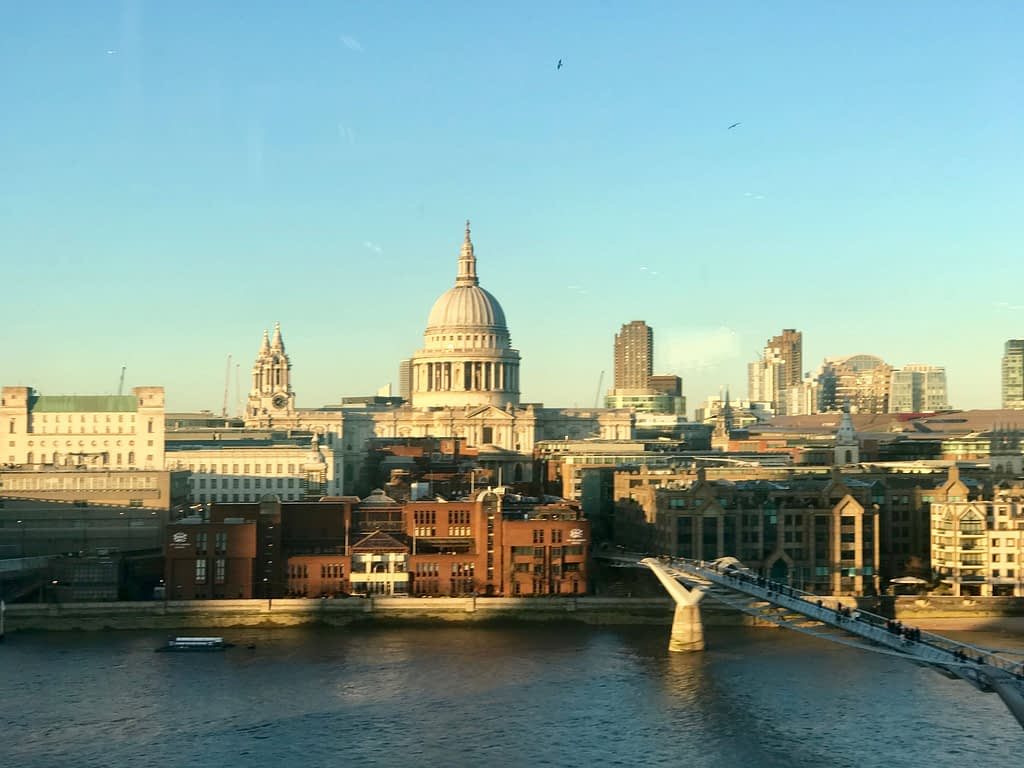 View from the Members' Room at Tate Modern