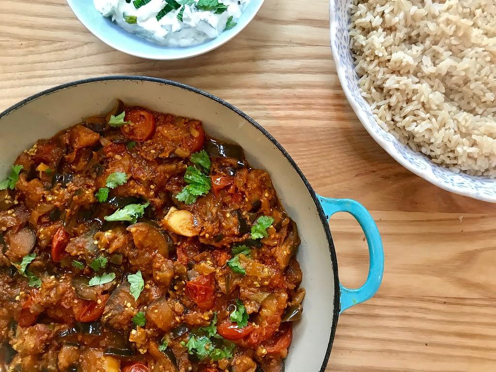 Meera Sodha's aubergine and cherry tomato curry