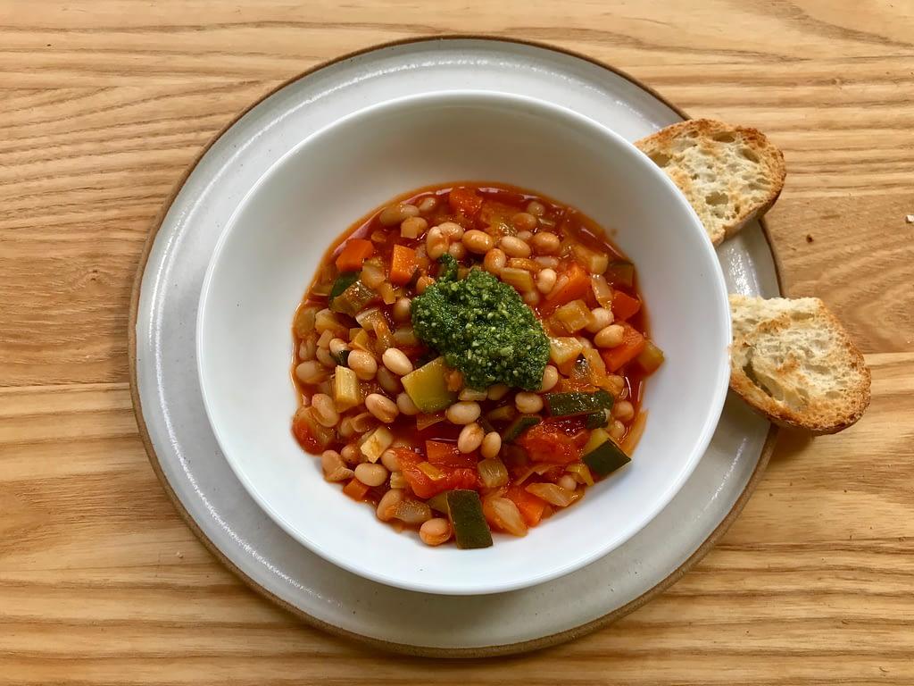 Mediterranean bean stew